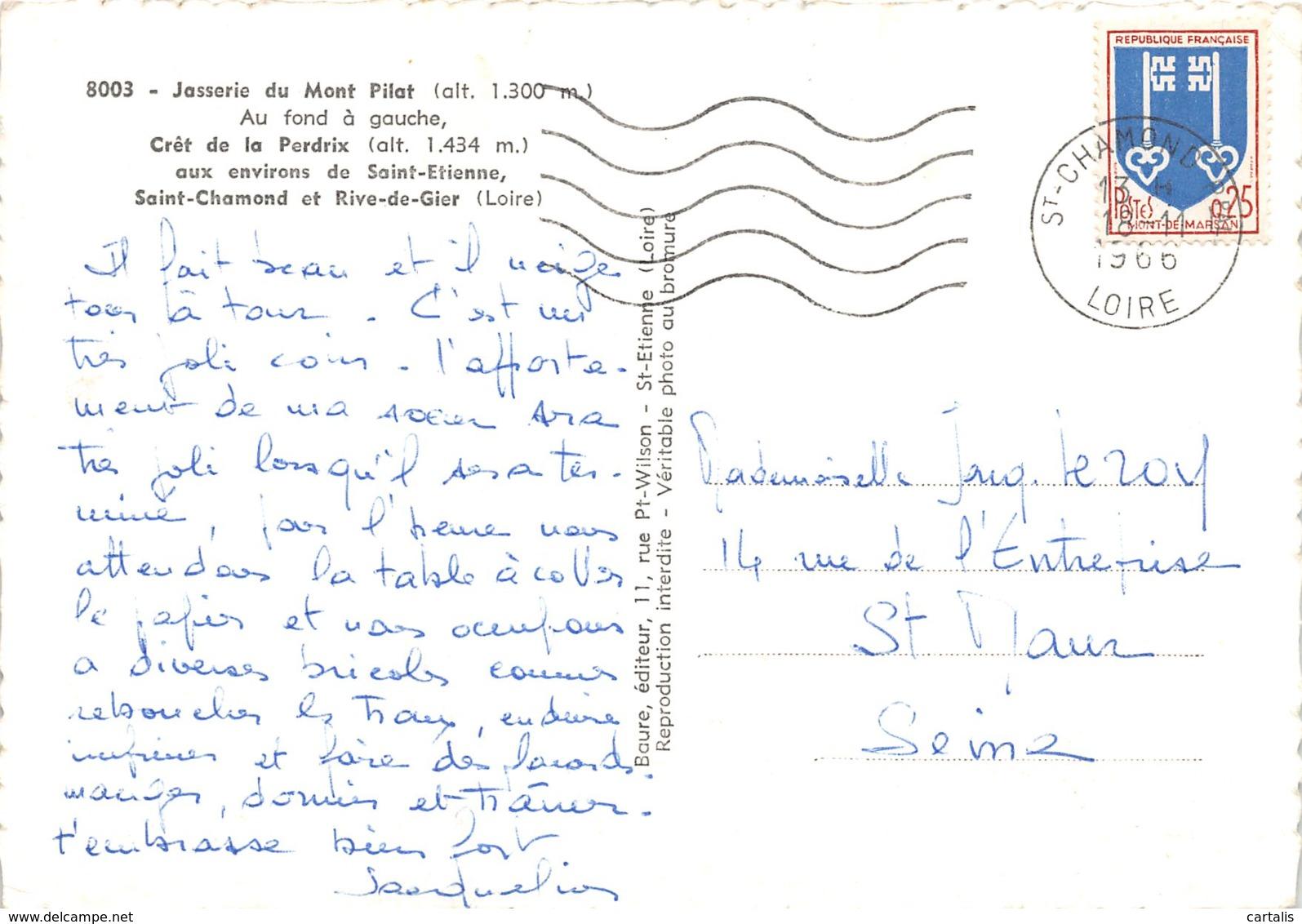 42-JASSERIE DU MONT PILAT-N°171-D/0029 - France