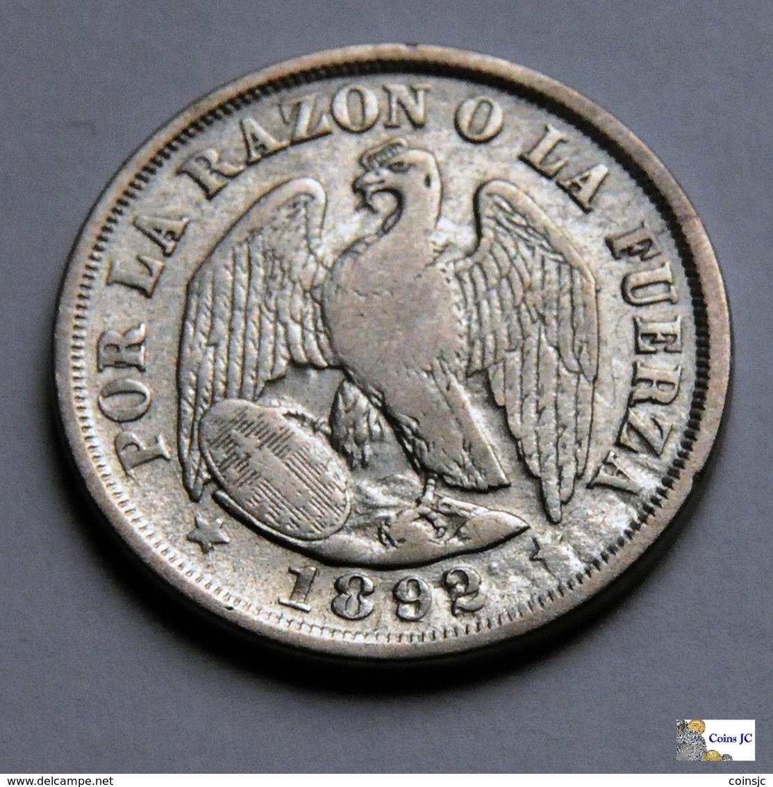 Chile - 20 Centavos - 1892 - Chile