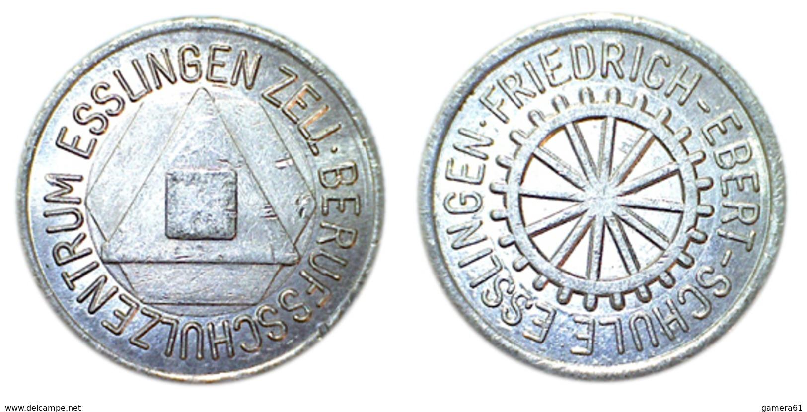 01940 GETTONE TOKEN JETON FICHA FRIEDRICH EBERT SCHULE ESSLINGEN ALU - Allemagne