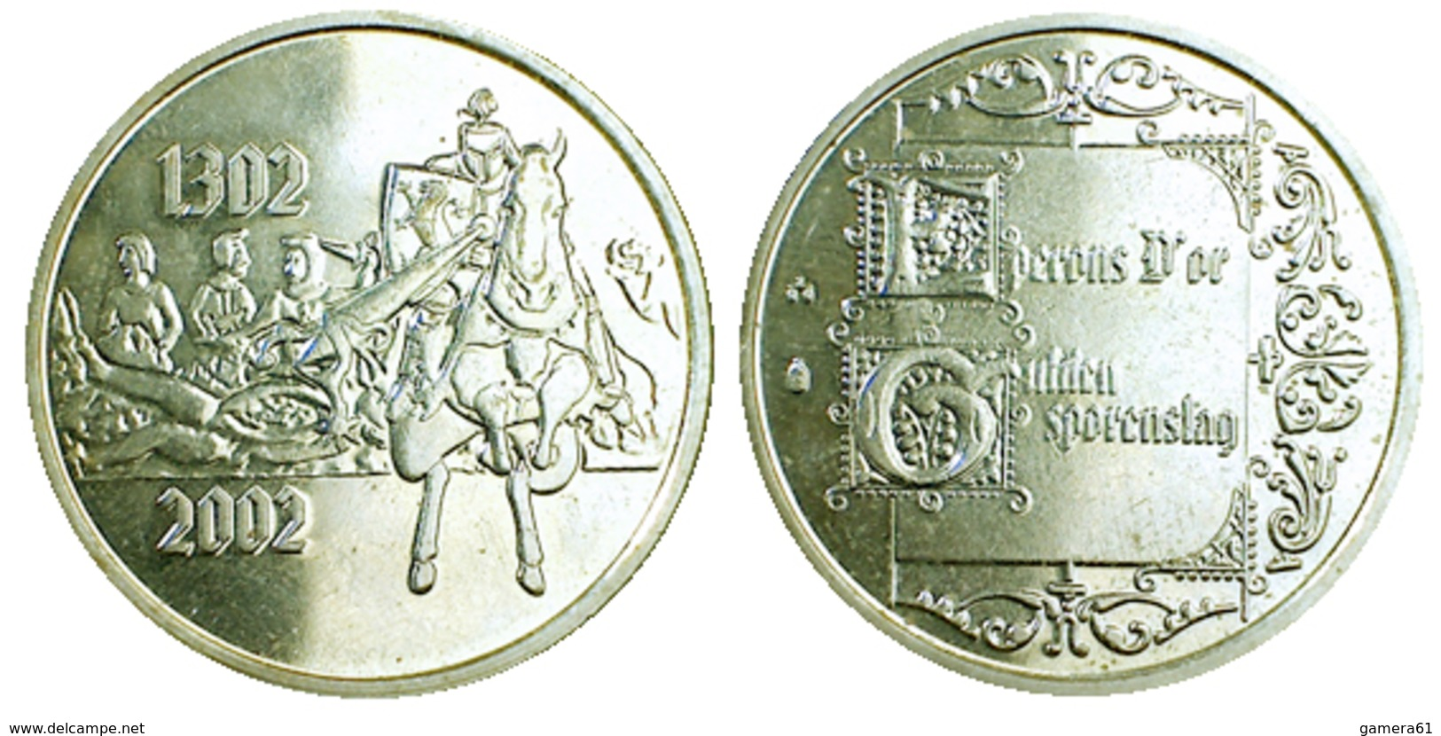 01496 GETTONE TOKEN JETON BELGIUM FICHA COMMEMORATIVE EPERONS D'OR 2002 - Pays-Bas