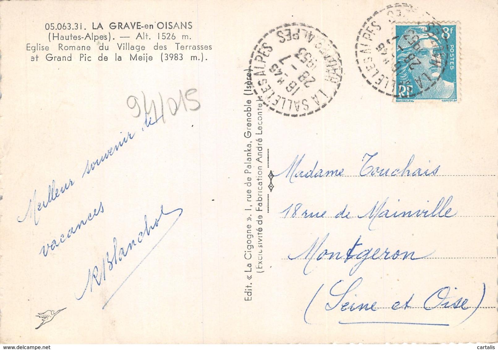 05-LA GRAVE EN OISANS-N°259-C/0073 - Autres Communes
