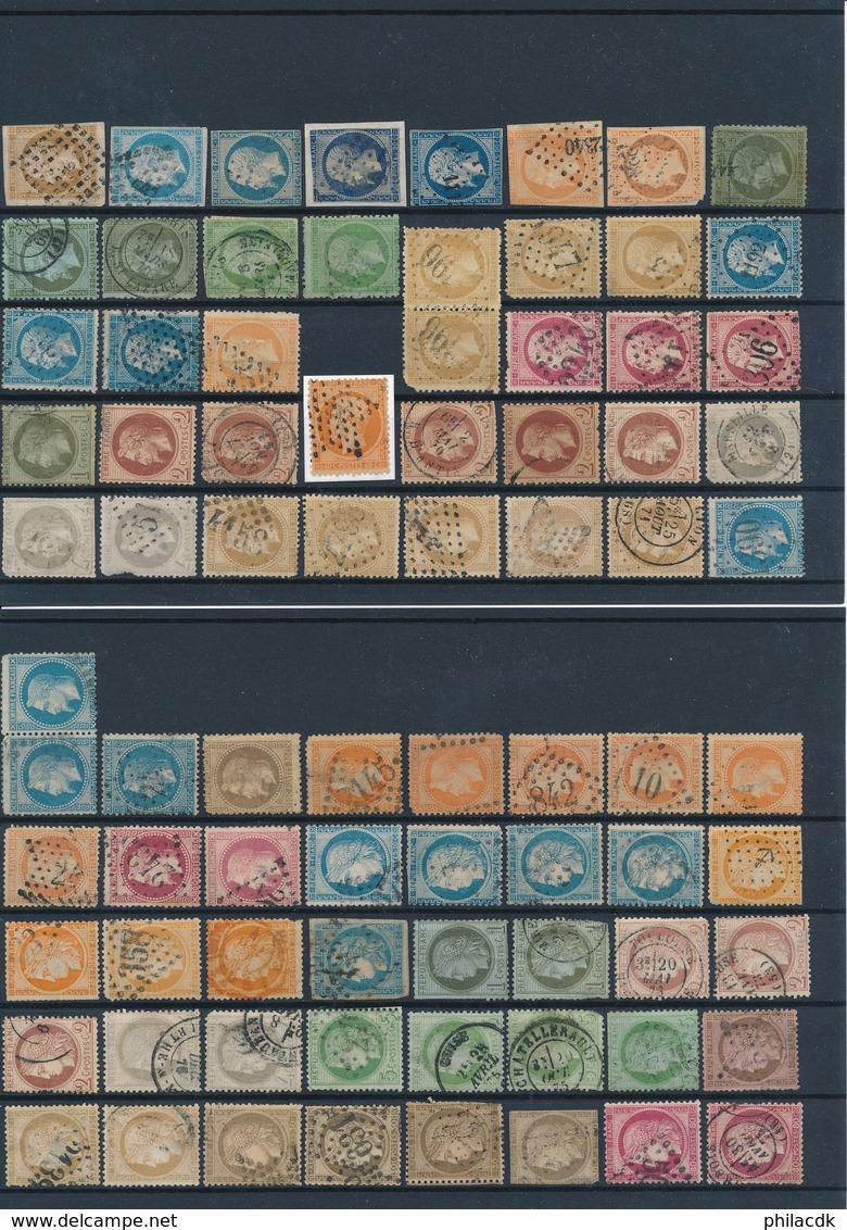 FRANCE - BELLE COLLECTION DE 798 TIMBRES CLASSIQUES DE FRANCE POUR ETUDE DES CAD BLEU/ROUGE/GC/PC/TEINTES/ETOILES PARIS - France