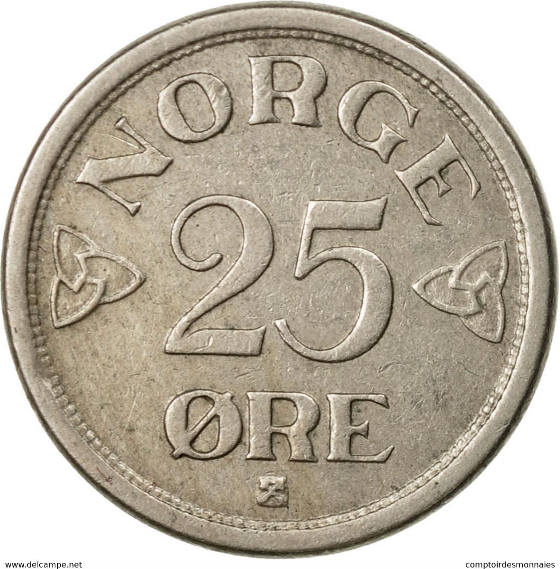 Monnaie, Norvège, Haakon VII, 25 Öre, 1955, TTB, Copper-nickel, KM:401 - Norvège