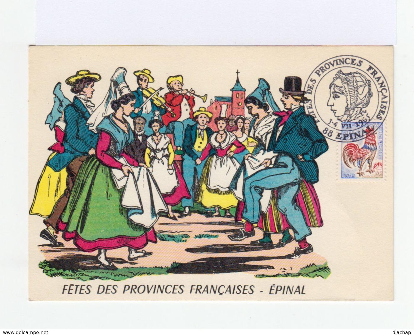 Carte Illustrée: Fête Des Provinces Française. Epinal. Cachet Epinal 1965. Imagerie Pellerin. Epinal. (794) - Autres