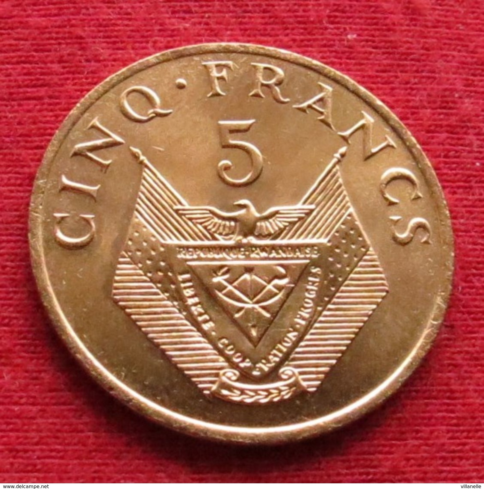 Rwanda 5 Francs 1987  Ruanda UNCºº - Rwanda
