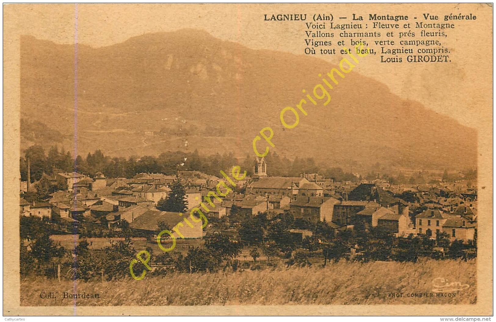 01.  LAGNIEU . La Montagne . Vue Générale . - France