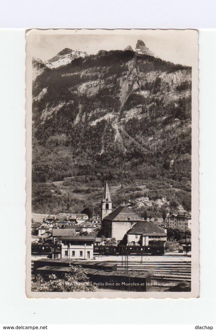 St Maurice.Petite Dent De Morcles Et Les Martinets. (3141) - VS Valais
