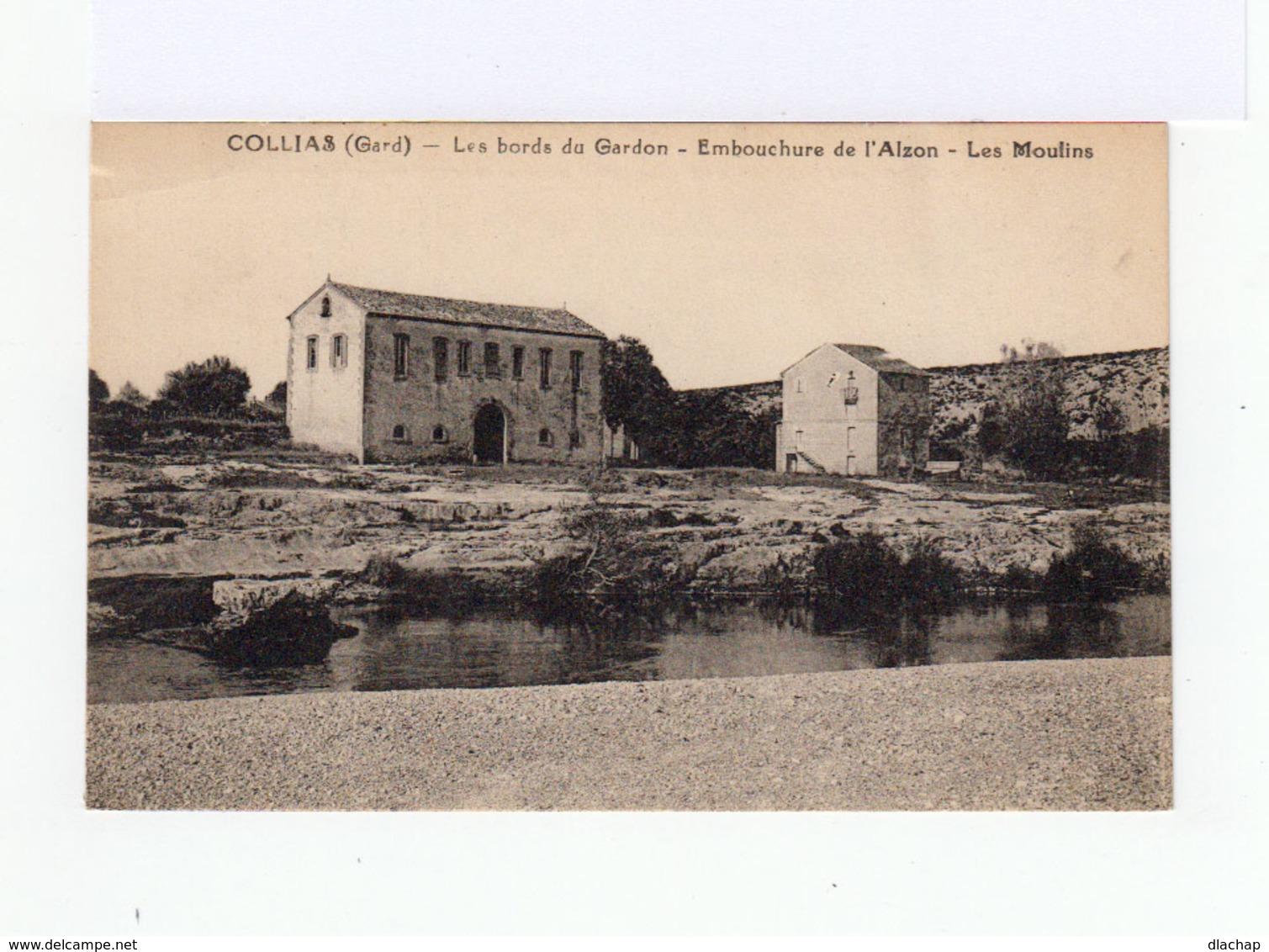 Collias. Gard. Les Bords Du Gardon. Embouchure De L'Alzon. Les Moulins. (3149) - France