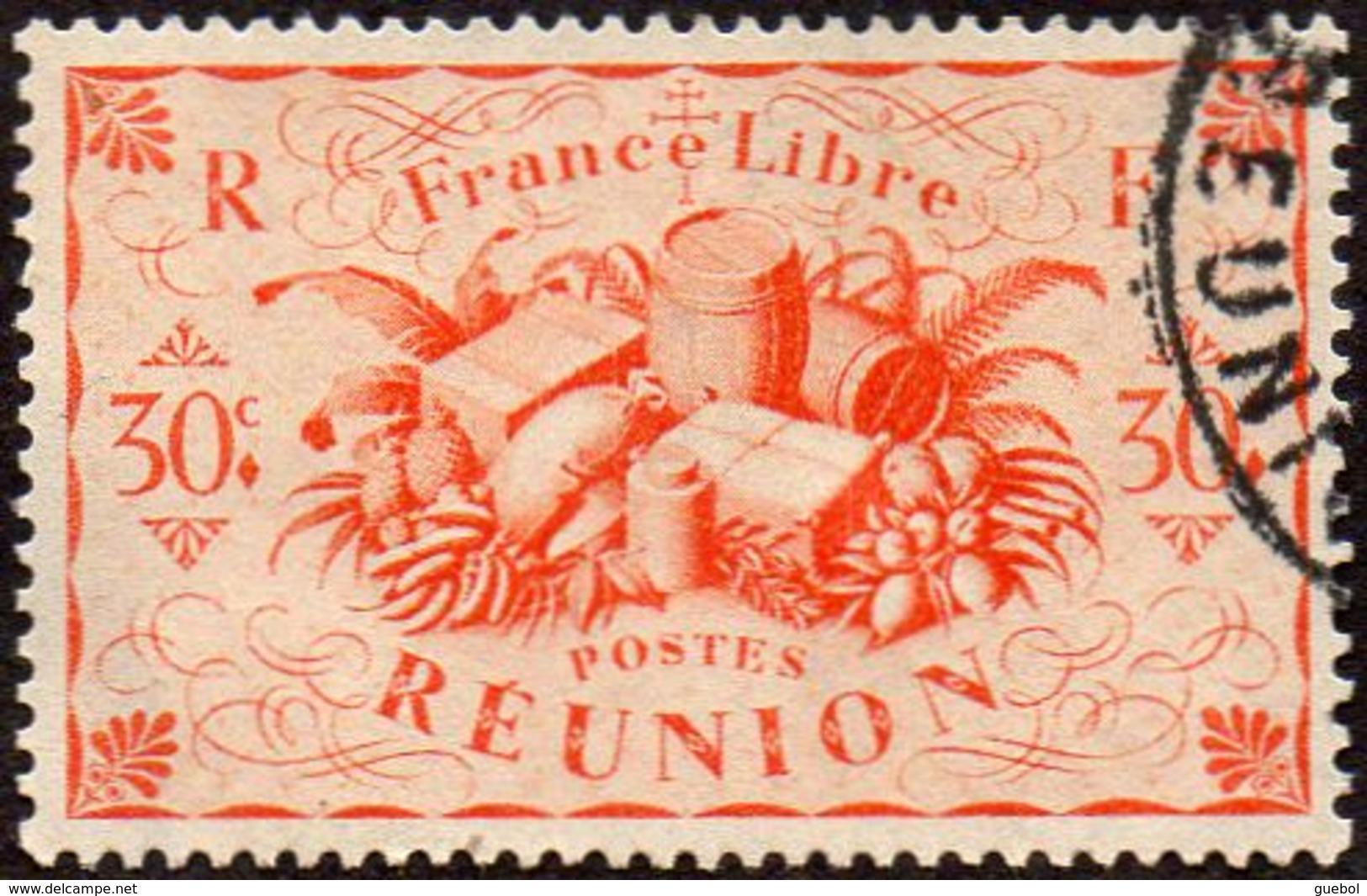 Réunion Obl. N° 236 - Détail De La Série De LONDRES - Productions - 30 Cts Orange - Réunion (1852-1975)