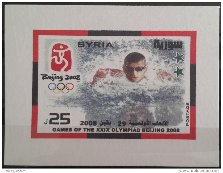 Syria 2008 MNH Souvenir Sheet M/S Block - Beijing Olympic Games - China - Sports - Syrien