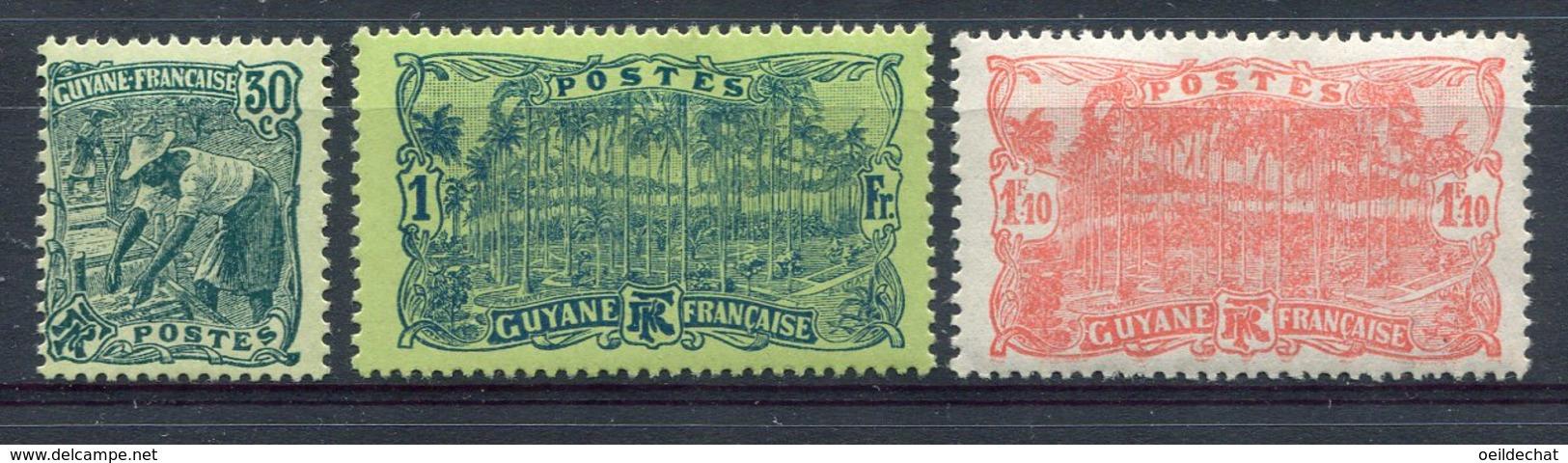 9381  GUYANE  N° 106/8*   1928  TB/TTB - French Guiana (1886-1949)