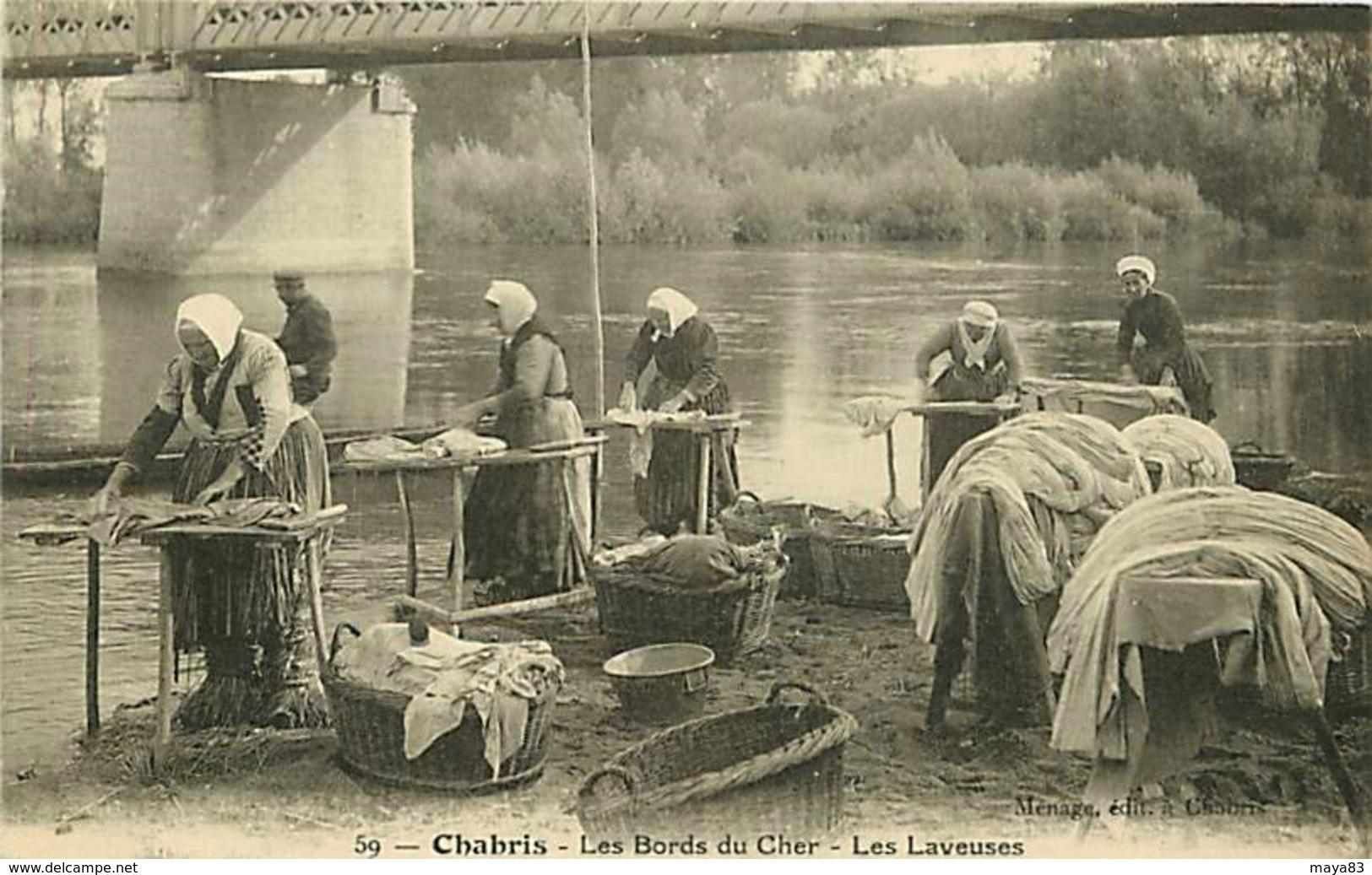 CHABRIS LES BORDS DU CHER LES LAVEUSES LAVANDIERES - France