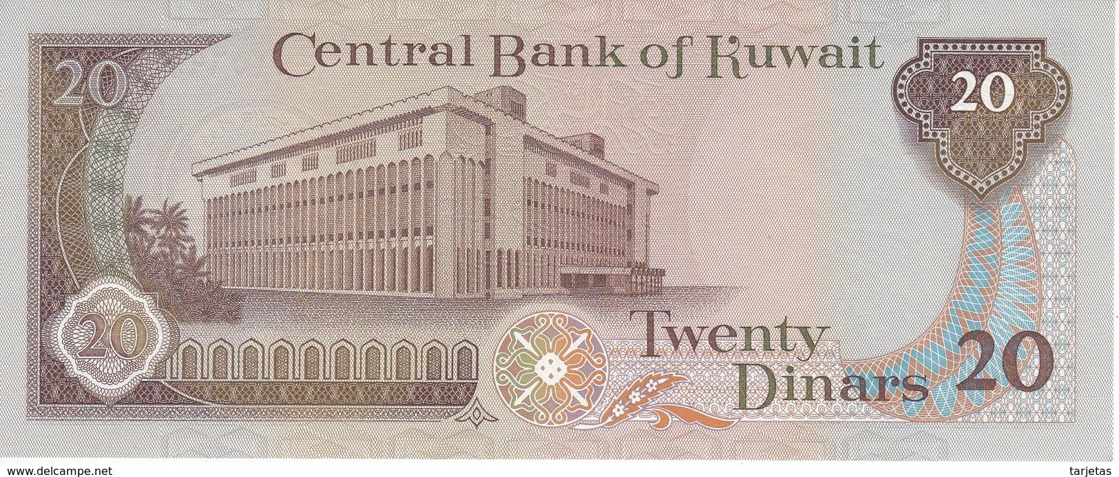 BILLETE DE KUWAIT DE 20 DINARS  DEL AÑO 1968 SIN CIRCULAR-UNCIRCULATED (BANKNOTE) - Kuwait