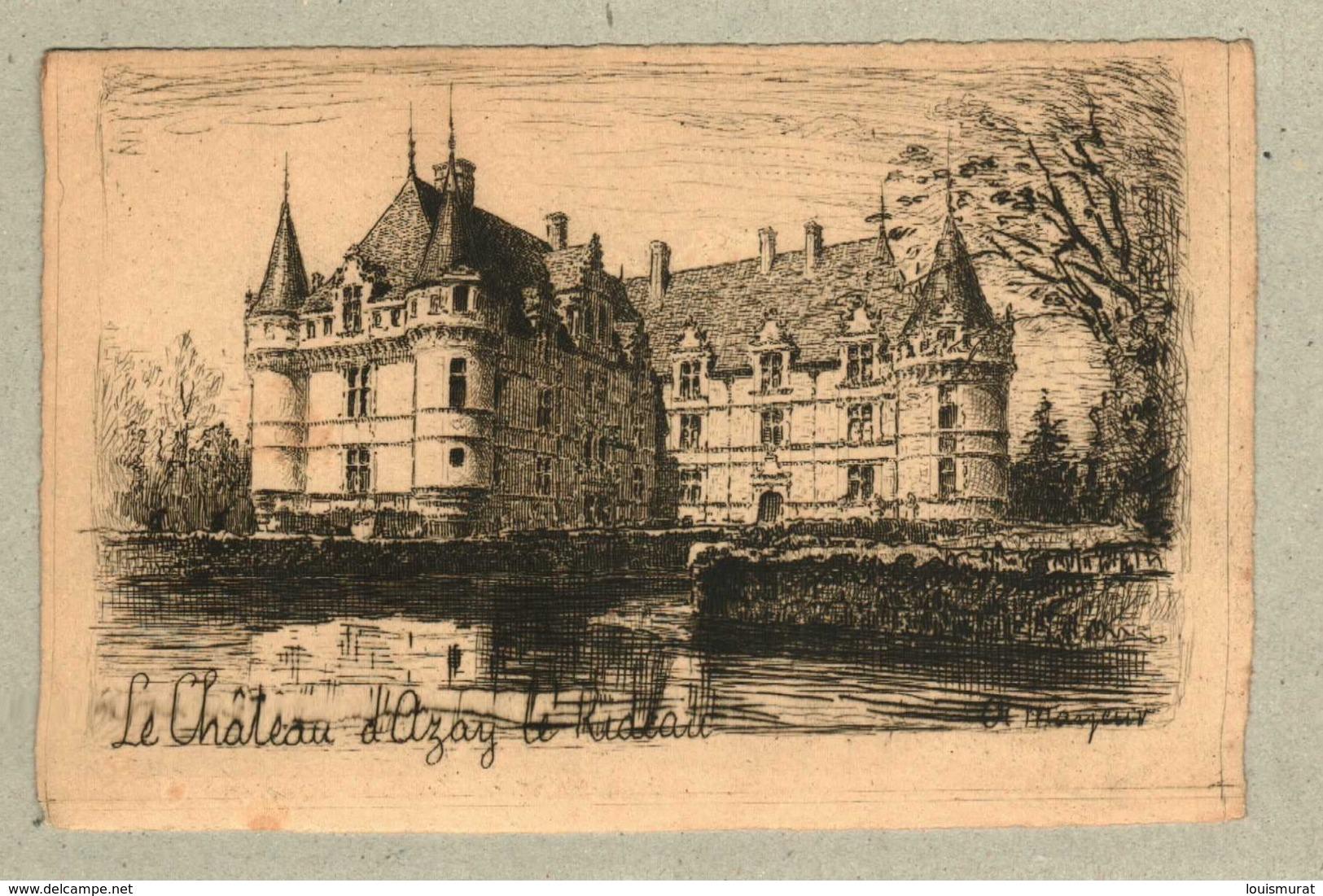 37 - Indre Et Loire - Eau Forte - Le Château D'Azay Le Rideau - Altri Comuni