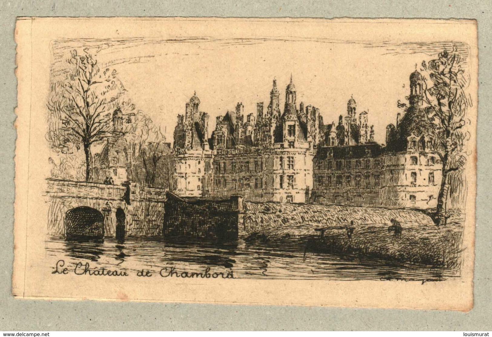 37 - Indre Et Loire - Eau Forte - Le Château De Chambord - Altri Comuni