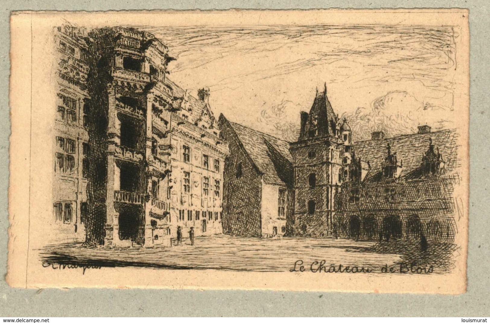 37 - Indre Et Loire - Eau Forte - Le Château De Blois - Otros Municipios