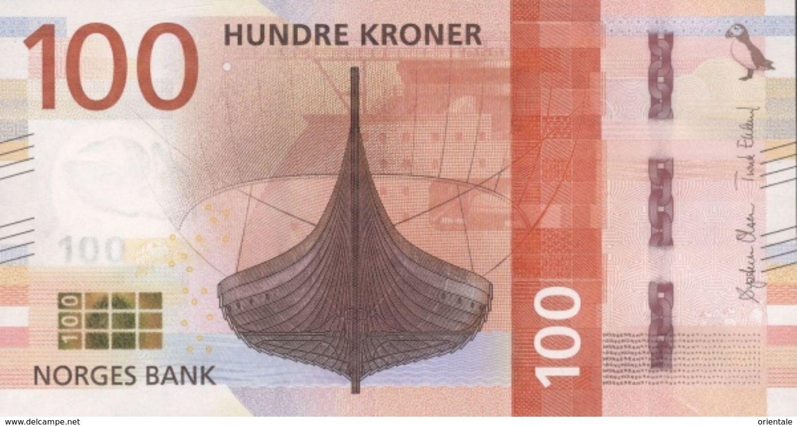 NORWAY P. NEW 100 K 2016 UNC - Norvegia