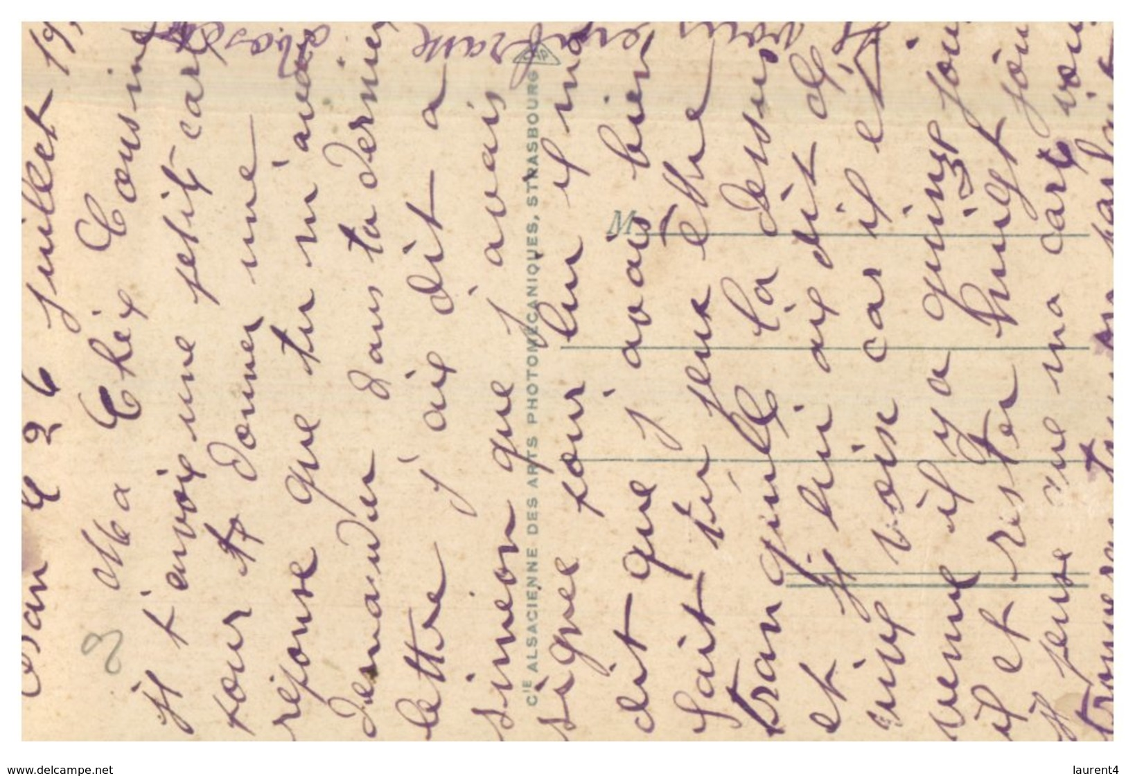 (ORL 638) Very Old Postcard - Oran - Le Courrier De France (cruise Sip / Paquebot) - Dampfer