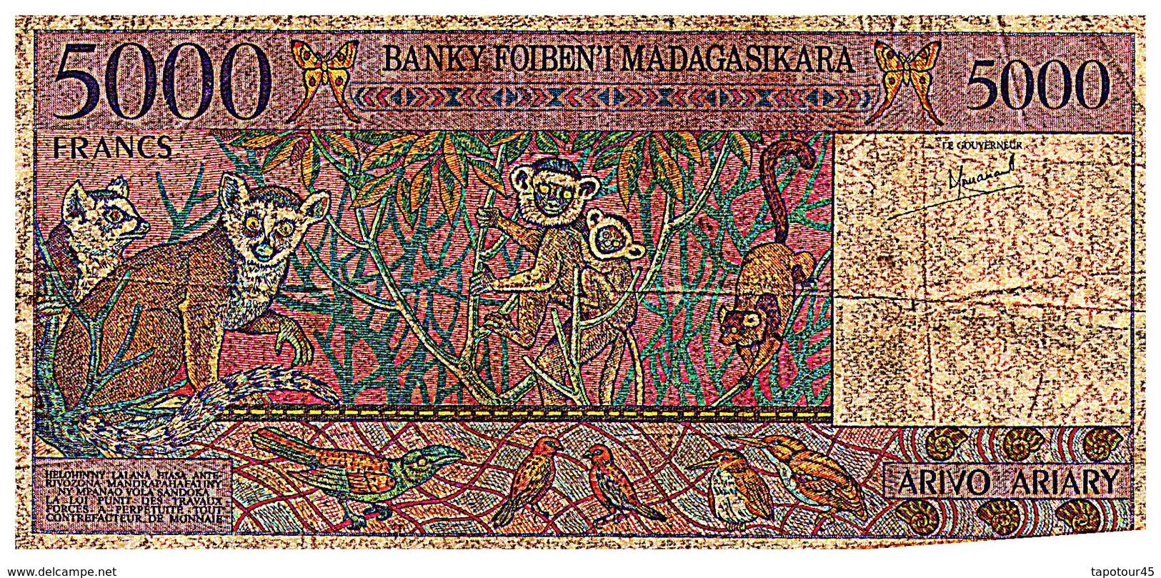 Billet >  Madagascar >   Valeur 5000 Francs - Madagascar