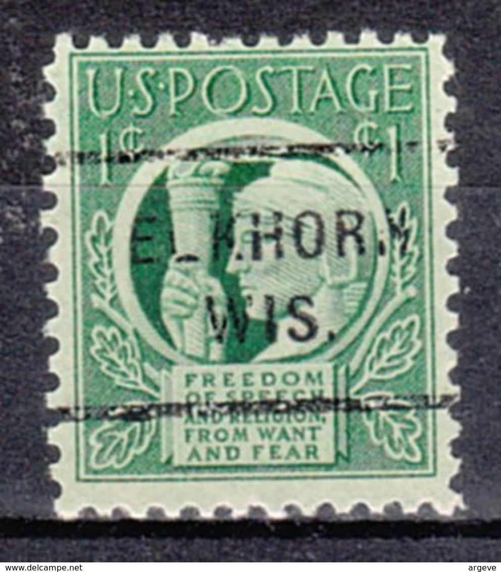 USA Precancel Vorausentwertung Preo, Locals Wisconsin, Elkhorn 712 - Vorausentwertungen