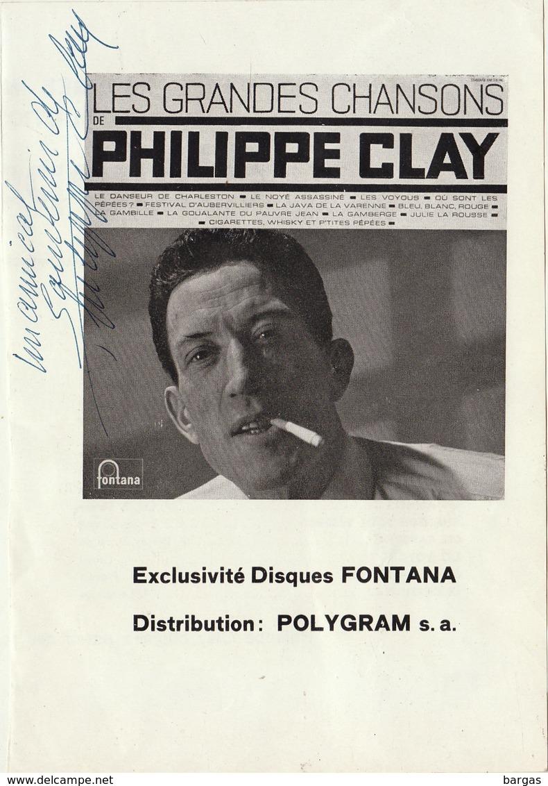 Autographe De Philippe Clay - Autographes