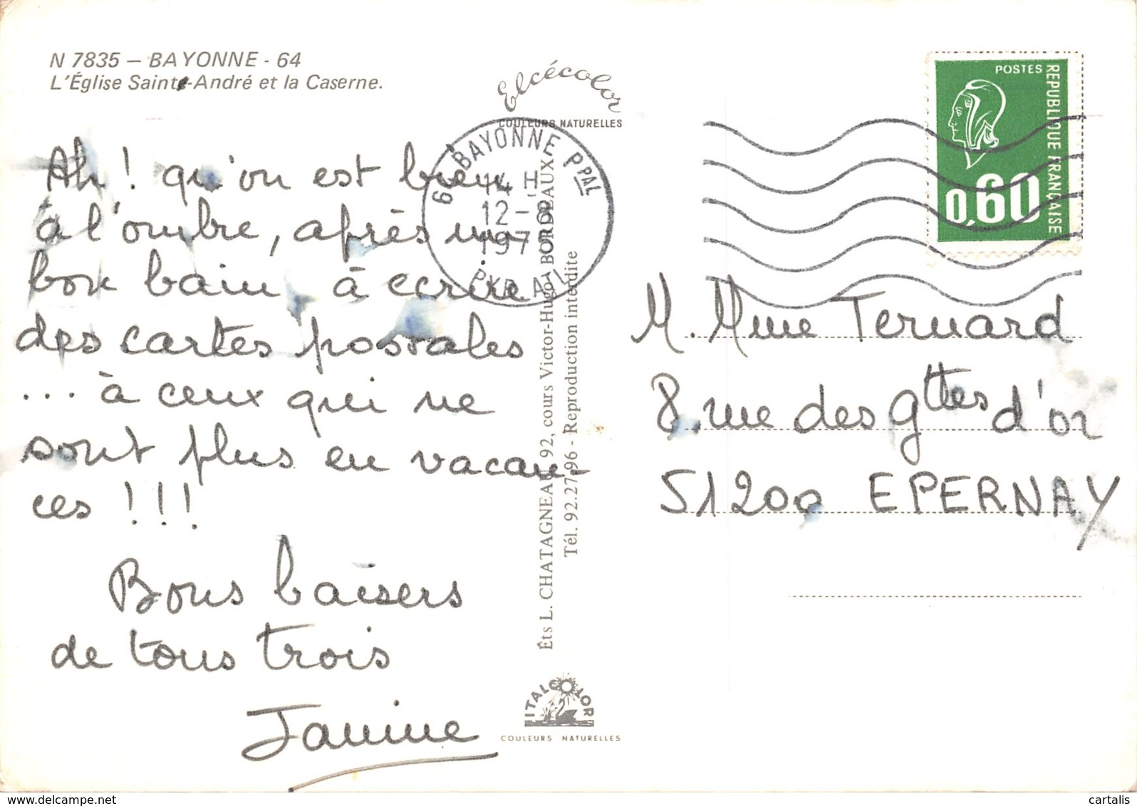 64-BAYONNE-N°411-B/0375 - Bayonne