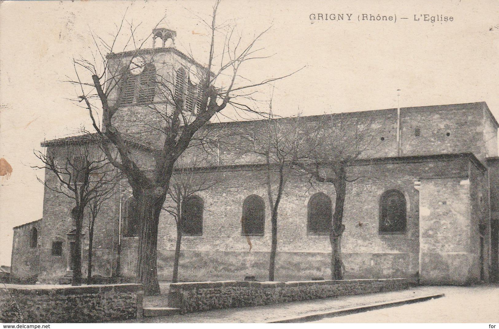 Rhone : GRIGNY : L'église - Grigny