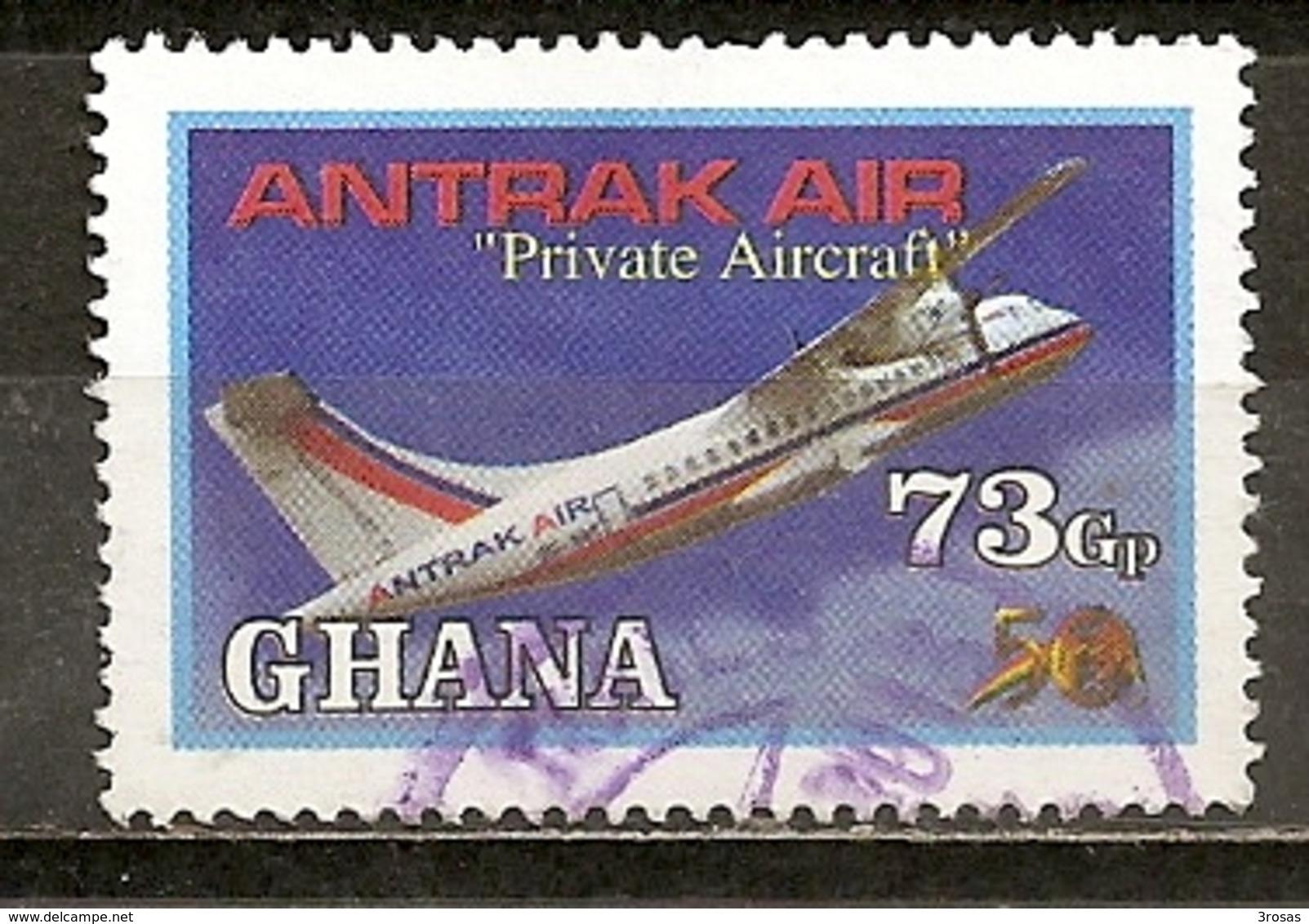 Ghana Avion Aeroplane Antrak Air Obl - Ghana (1957-...)