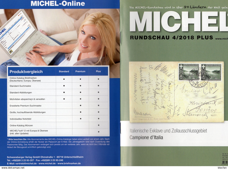 Rundschau MICHEL Briefmarken 4/2018-plus Neu 6€ New Stamps World Catalogue/magacine Of Germany ISBN 978-3-95402-600 - Riviste: Abbonamenti