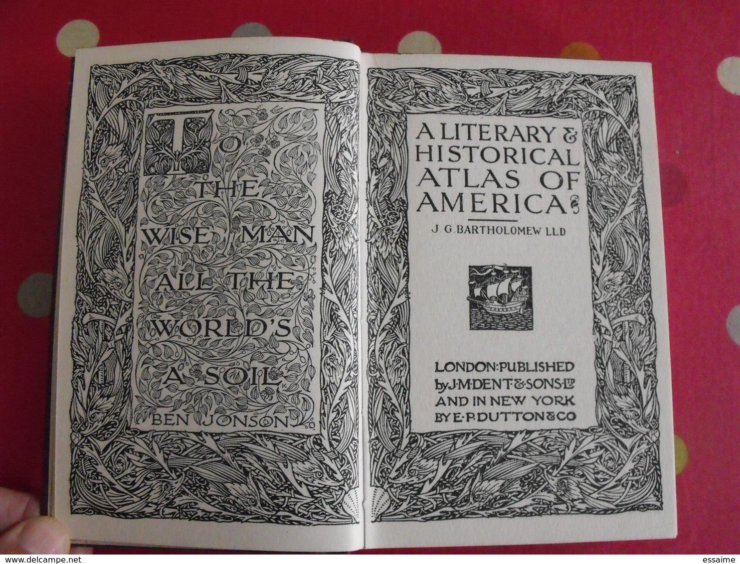 A Literary & Historical Atlas Of America. Bartholomew. Dent, London, 1912 - Histoire