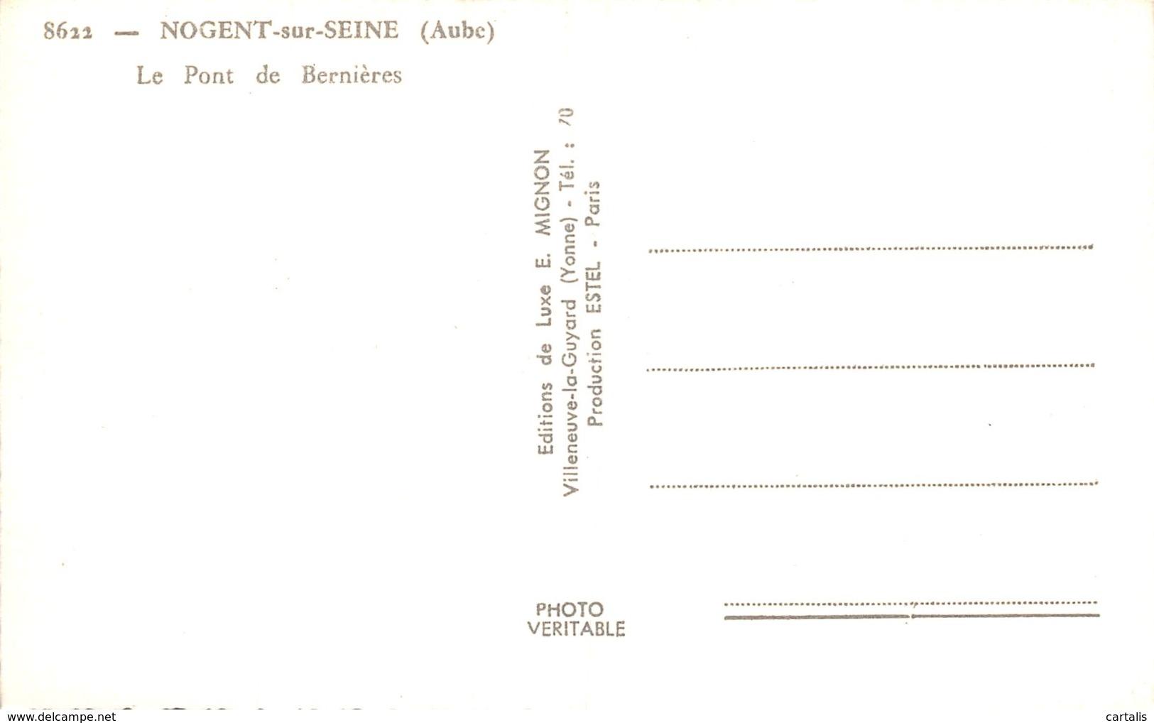 10-NOGENT SUR SEINE-N°437-F/0259 - Nogent-sur-Seine