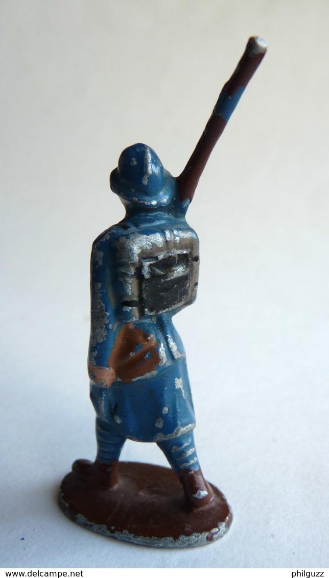 FIGURINE QUIRALU Soldat CASQUE ADRIAN BLEU AU DEFILE - ALUMINIUM - Quiralu