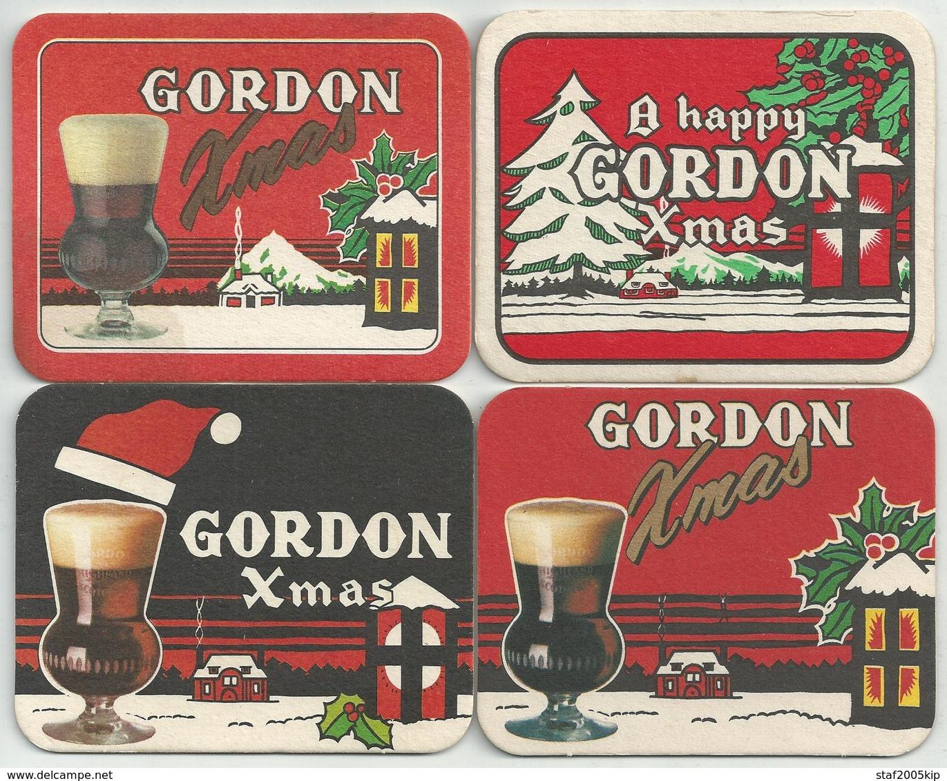 Bierviltjes - Gordon Xmas - (4 Stuks) - Sous-bocks