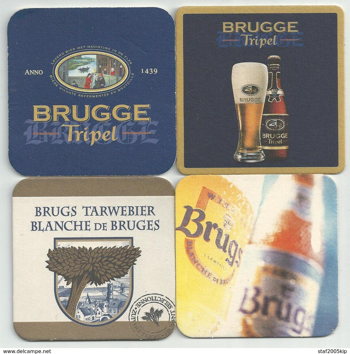 Bierviltjes - Brugge Tripel - (4 Stuks) - Sous-bocks