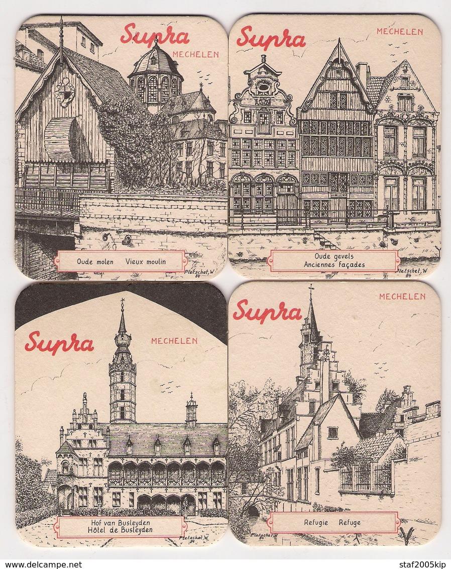 Bierviltjes - Supra - Mechelen - (4 Stuks) - Sous-bocks