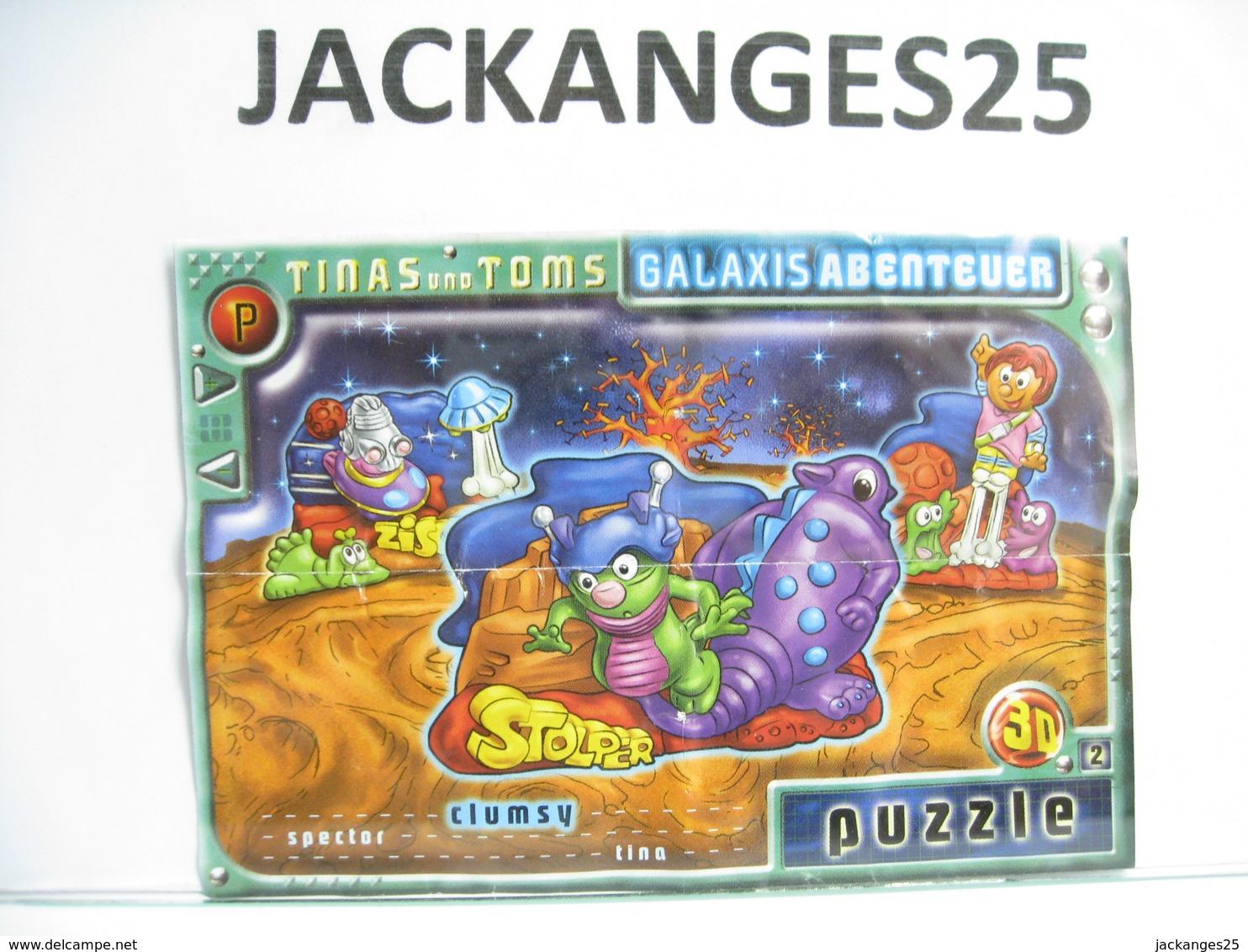 KINDER ALLEMAND PUZZLE 3D PLASTIC 610201  2001  +  BPZ D - Puzzles