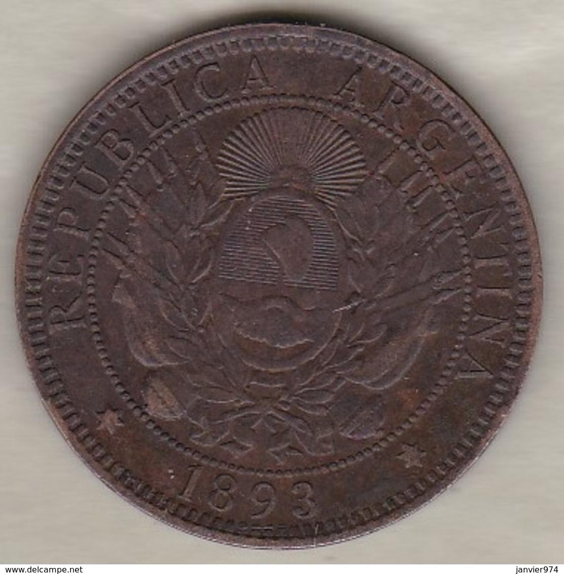 ARGENTINE / TUCUMAN. DOS CENTAVOS 1893. BRONZE - Argentine