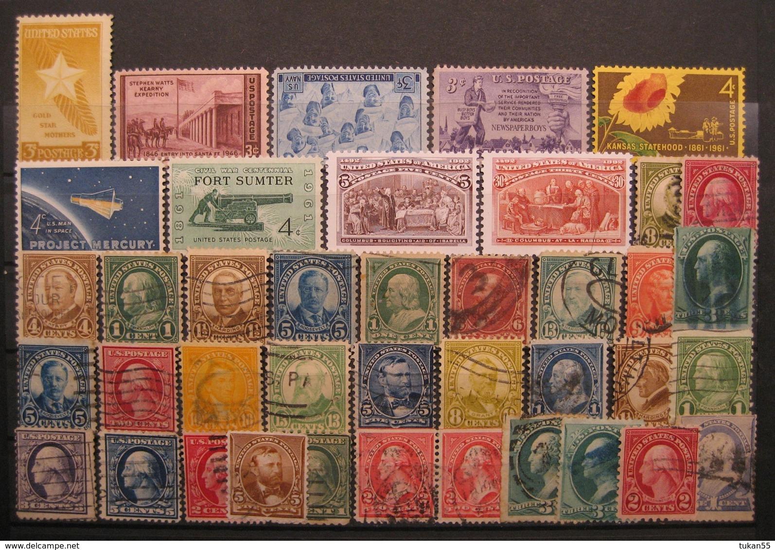 USA Markenlot 1922 - 1992 Postfrisch & Gestempelt    (I166) - Vereinigte Staaten