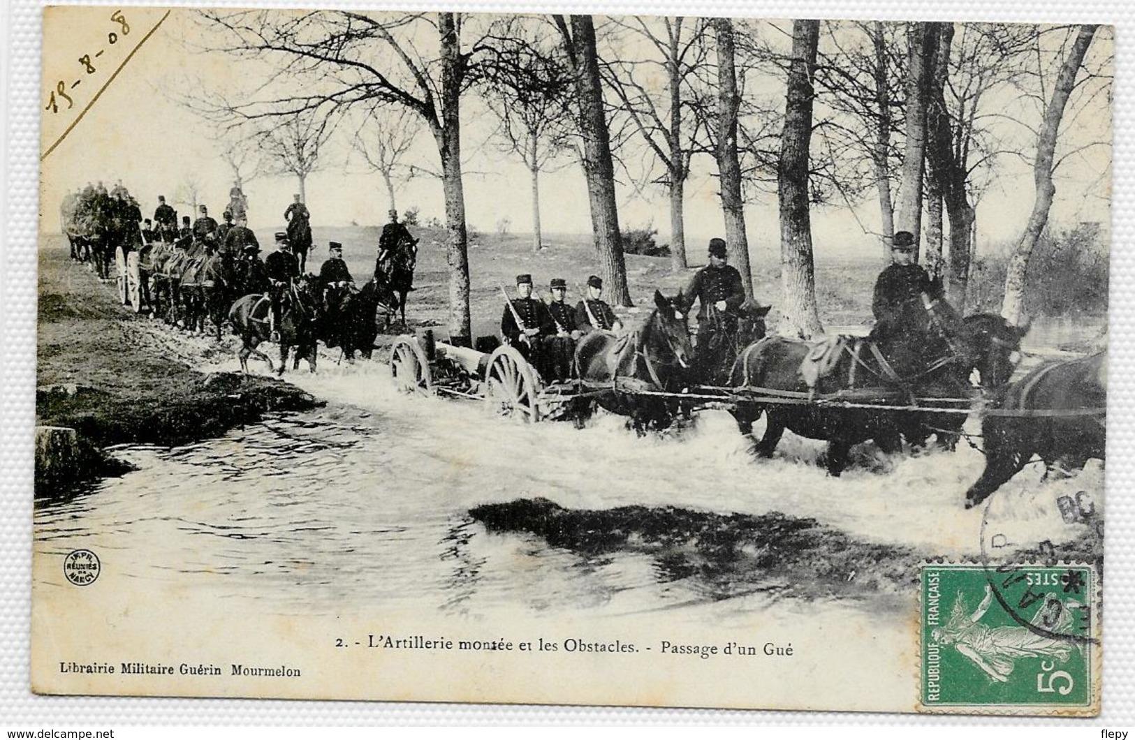 CPA Artillerie Montée Et Les Obstacles. Passage D'un Gué. - Ausrüstung