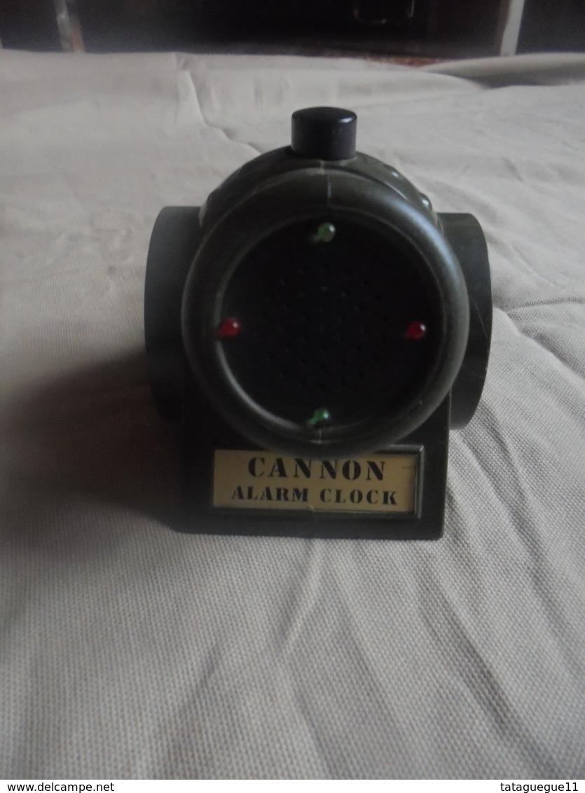 """Ancien Réveil à Quartz """"Cannon Alarm Clock"""" - Bijoux & Horlogerie"""