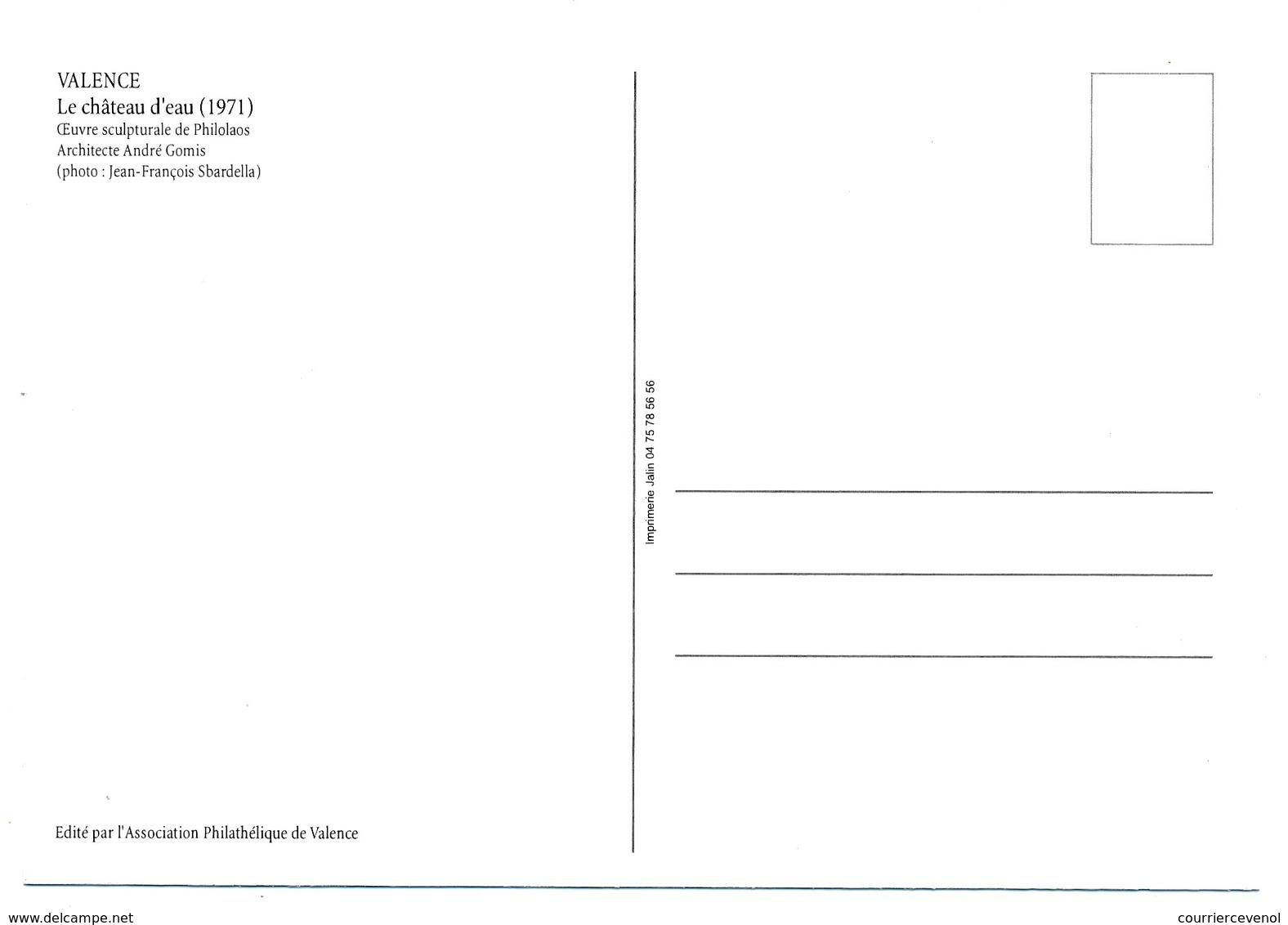 FRANCE - Carte Maximum - 0,58E VALENCE Le Chateau D'eau - Premier Jour 22.03.2013 VALENCE - Signature Graveur LUQUET - Cartoline Maximum