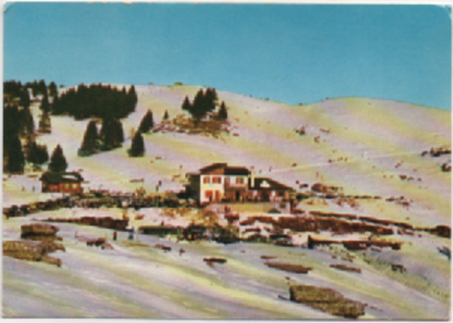 Lusiana (Vicenza): Sciovie E Rifugio Monte Corno. Scritta 1970 Non Viaggiata - Vicenza