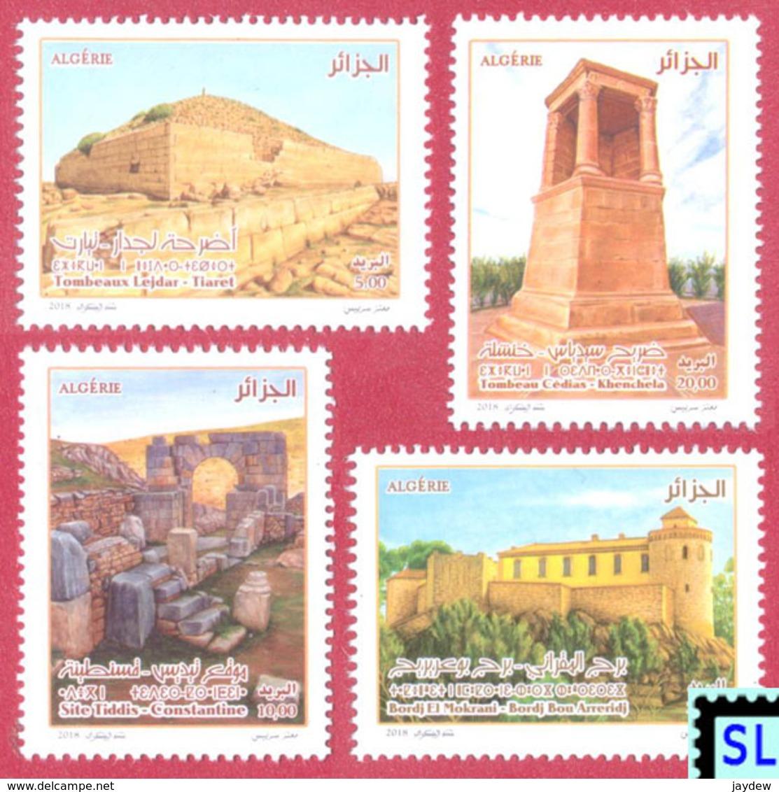 Algeria Stamps 2018, Historic Sites, MNH - Algeria (1962-...)