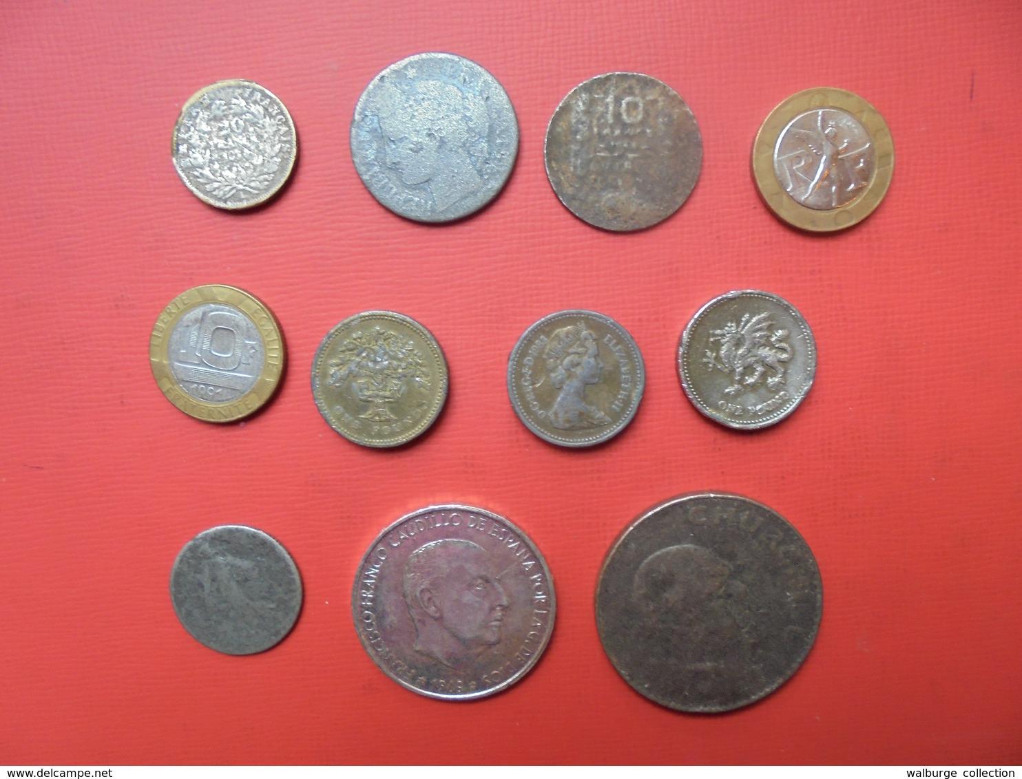 LOT 11 FAUX D'EPOQUES ENTRE 1854 ET 1991 - Monedas & Billetes