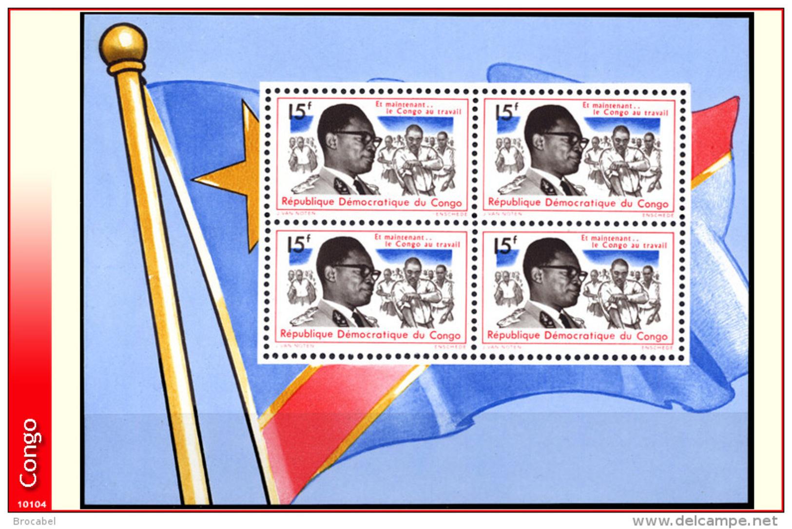 Congo BL 016** -  Mobutu MNH - République Démocratique Du Congo (1964-71)