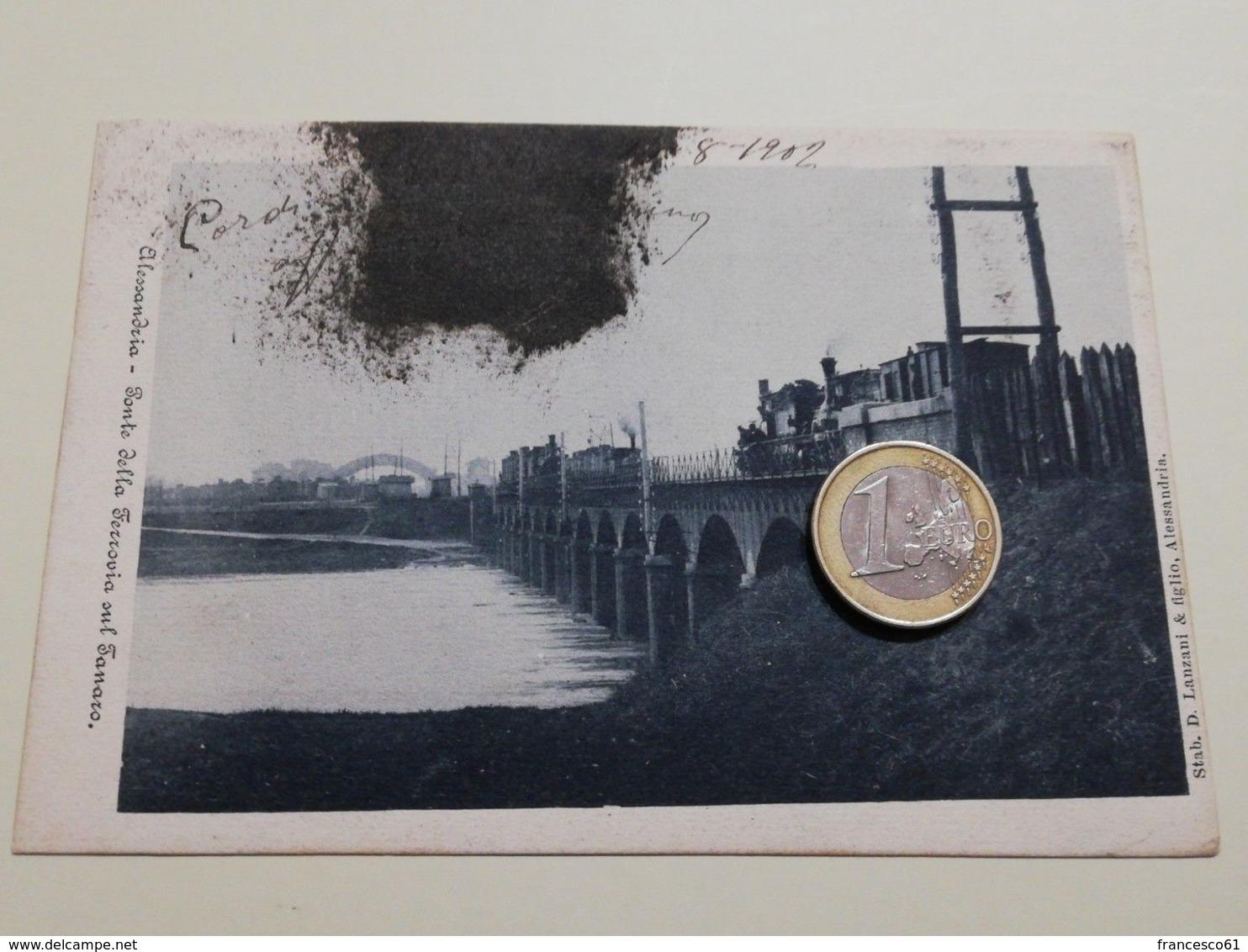 2522) Piemonte ALESSANDRIA Ponte Stazione Ferroviaria Tamaro VIAGGIATA 1902 - Alessandria