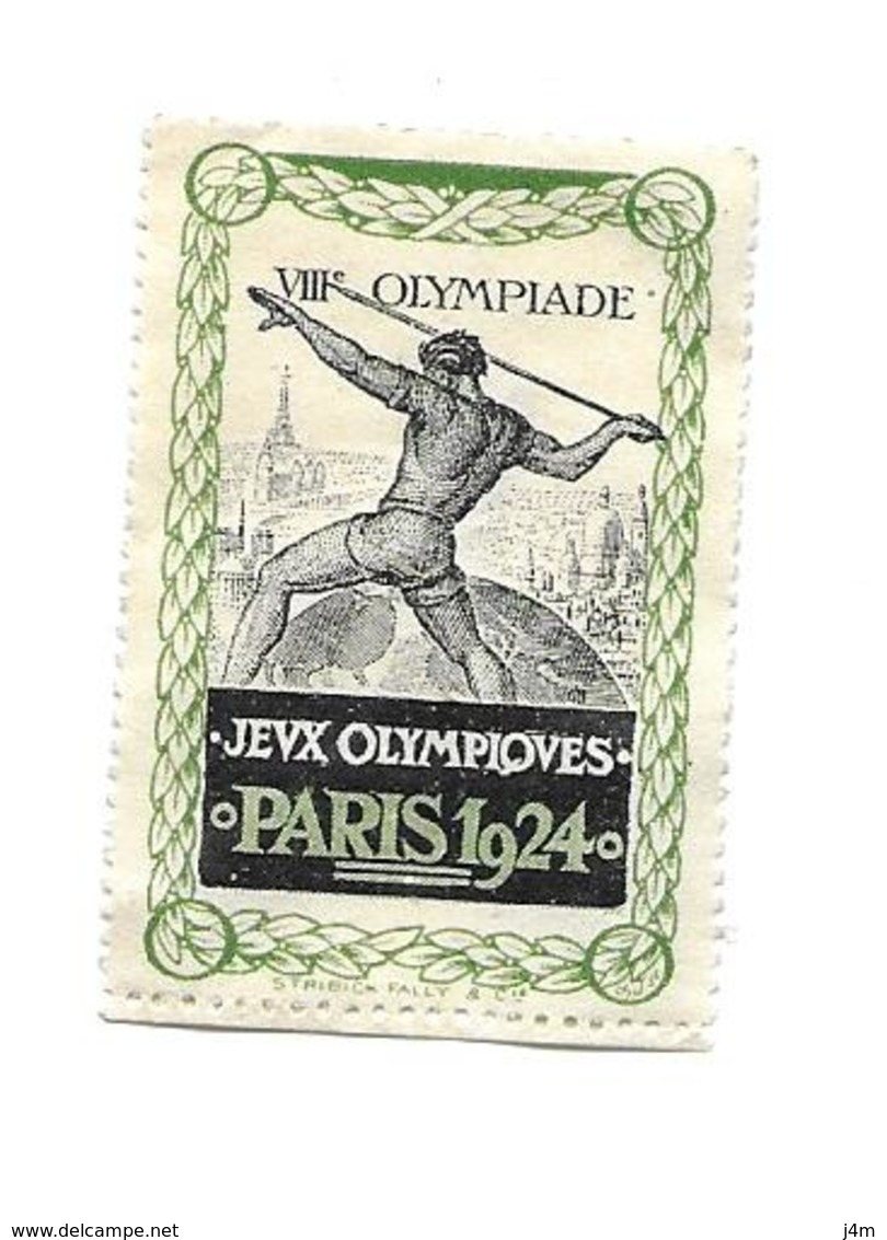 TIMBRE ERINNOPHILIE.. VIIIe OLYMPIADE.. Jeux Olympiques PARIS 1924 - Erinnophilie