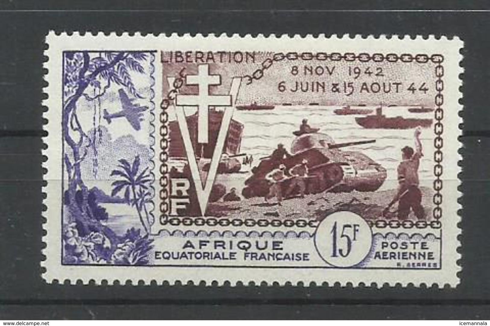 A.E.F.  YVERT AEREO  57    MH  * - A.E.F. (1936-1958)