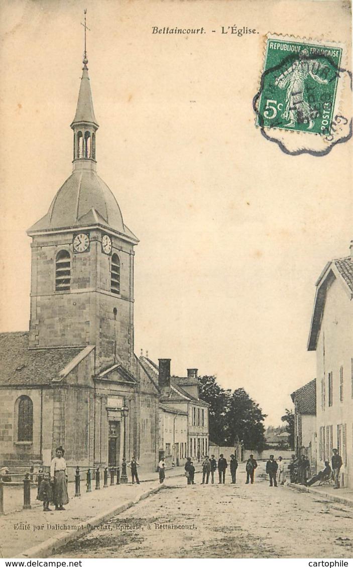 52 - BETTAINCOURT - L'eglise Animée En 1909 - Francia