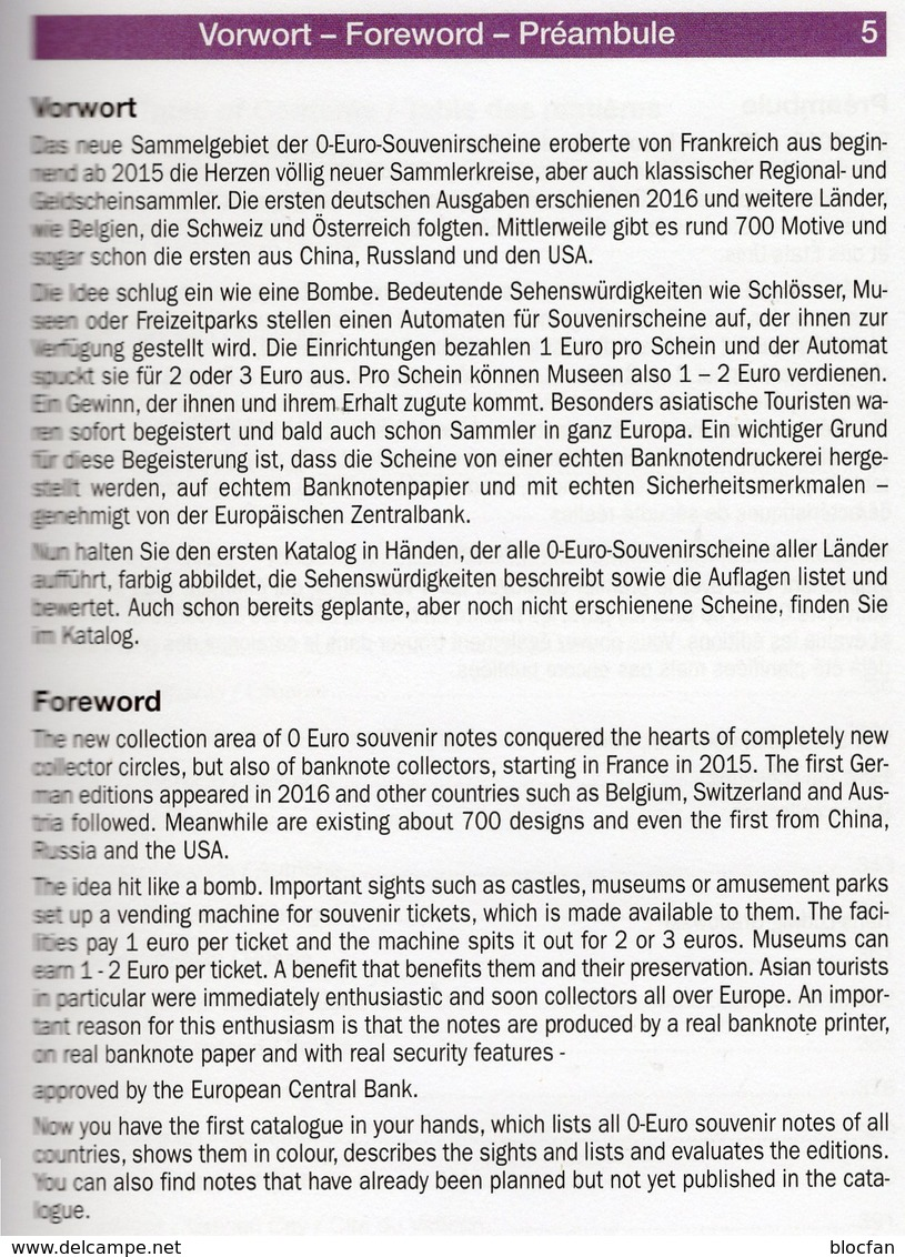 Grabowski-Katalog 0-EURO-Souvenir-Scheine 2018 New 20€ Papiergeld 1.Auflage Money Souvenirnoten Deutsch/english/frz - Engels